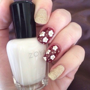 Daisies nail art by allwaspolished