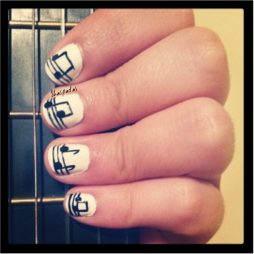 Music nail art by Pau_Lova