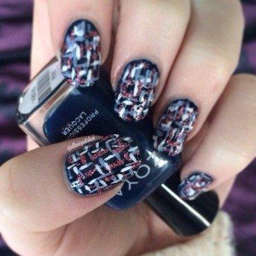 Tweed nail art by allwaspolished