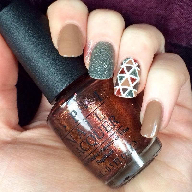 Fall Cut-Out nail art by allwaspolished
