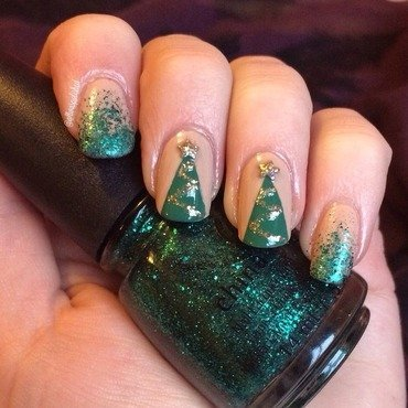 Christmas Trees nail art by allwaspolished
