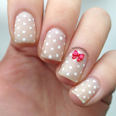 Negative Space Dotticure nail art by NailThatDesign