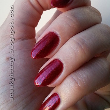 China Glaze Ruby pumps Swatch by Mgielka M