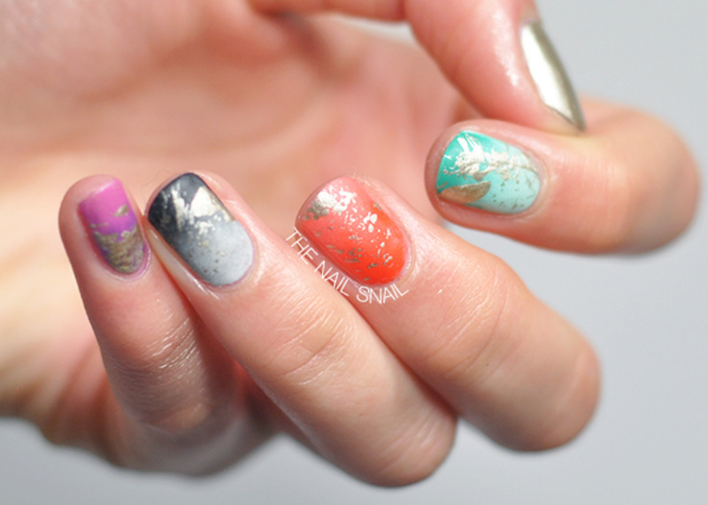 Matte Gradient & Splatter Nails nail art by Lucy (the Nail Snail)