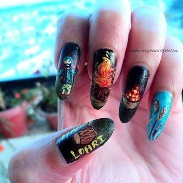Lohri Nail Art nail art by Anubhooti Khanna