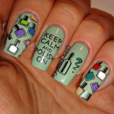 KEEP CALM AND POLISH ON! nail art by Ewa