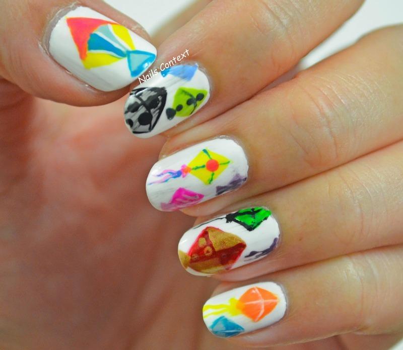 Kites nail art by NailsContext