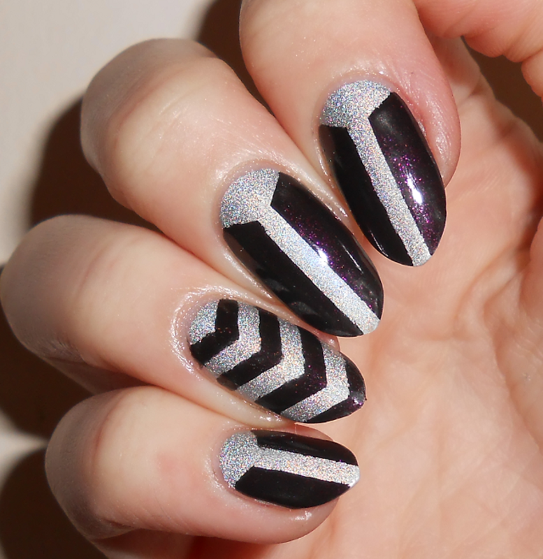 Mono Holo nail art by MyMintNails