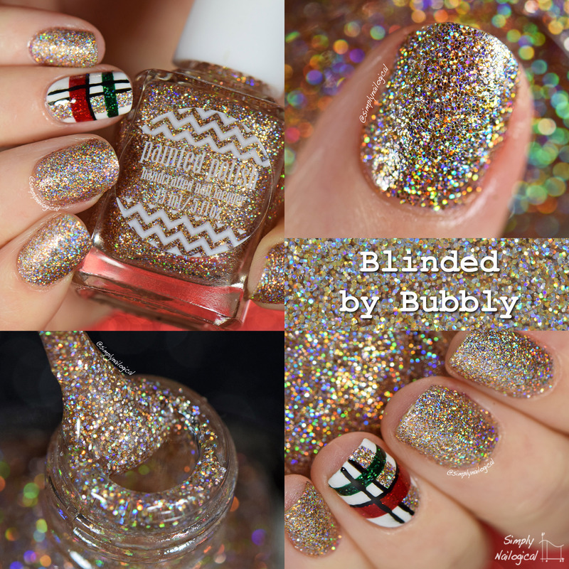 Painted Polish Blinded by Bubbly Swatch by simplynailogical