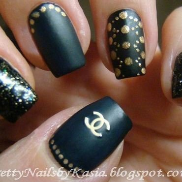 CHANEL inspired nails nail art by Pretty Nails by Kasia