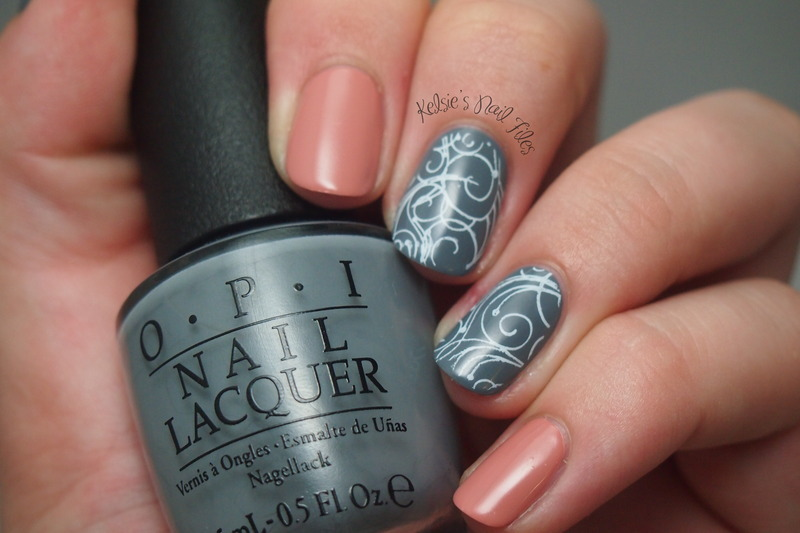 Embrace the Gray nail art by Kelsie