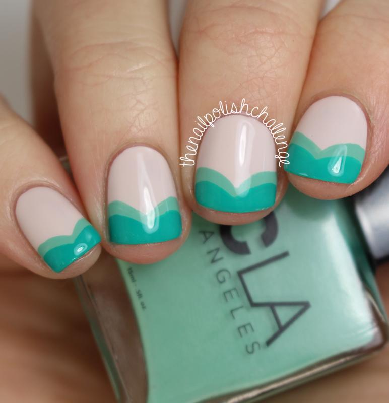 Abstract Ariel French Tips nail art by Kelli Dobrin - Nailpolis ...