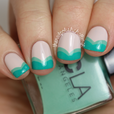 The nail polish challenge french manicure turquoise thumb370f