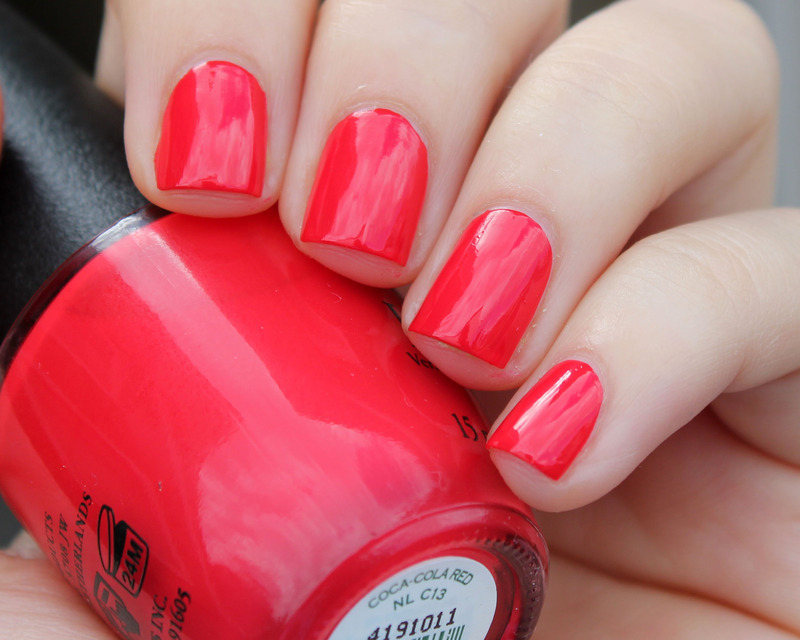 OPI Coca Cola Red Swatch by Moriesnailart