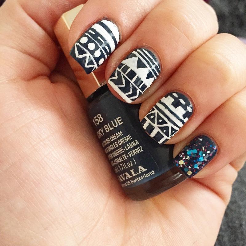 Tribal nail art by Beaaa2311
