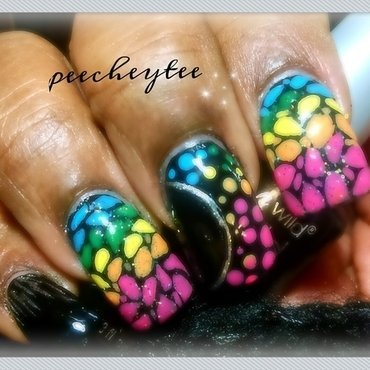 Rainbow mosaic nailart nail art by peecheytee