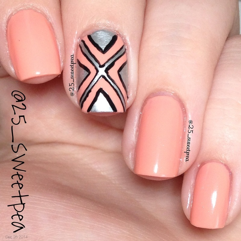 The X nail art by 25_sweetpea