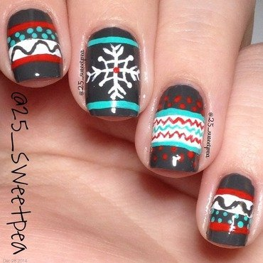 Sweater Weather nail art by 25_sweetpea