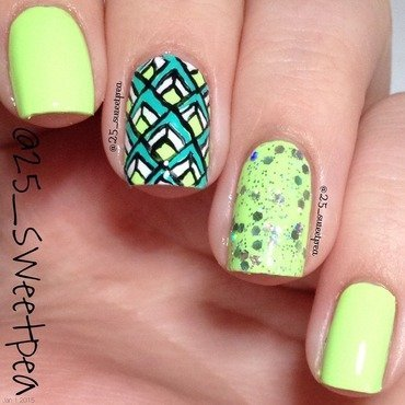 Geometric  nail art by 25_sweetpea