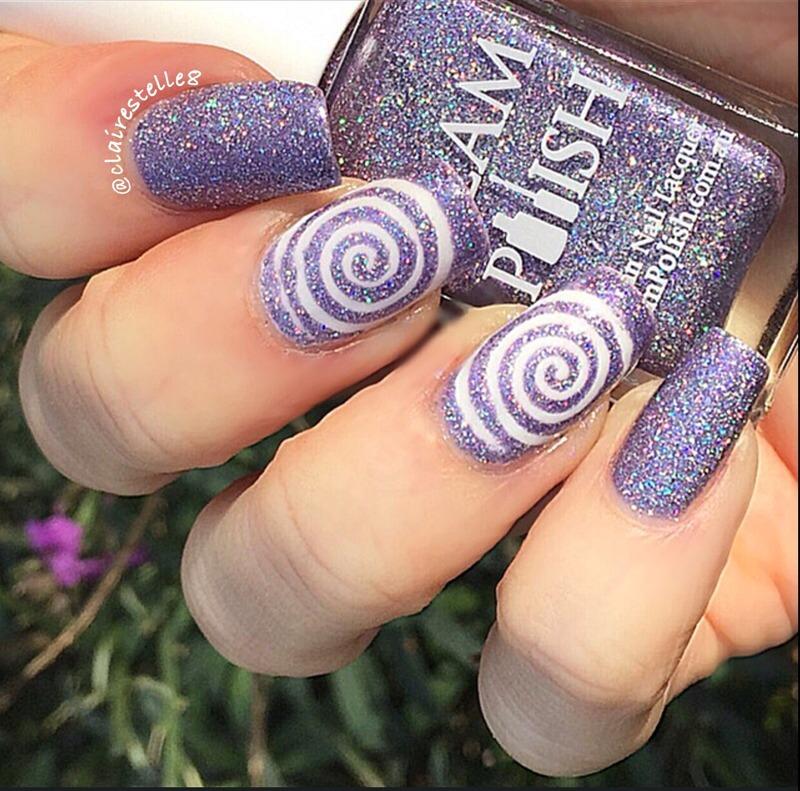 Cyclone Nails nail art by Claire O'Sullivan