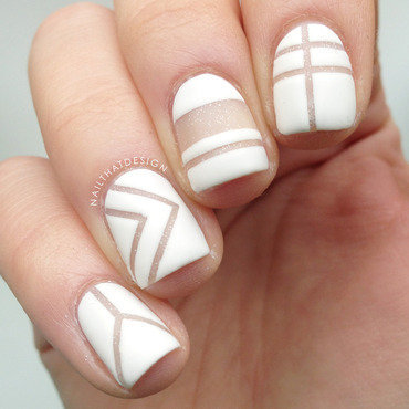 Negative Space nail art by NailThatDesign