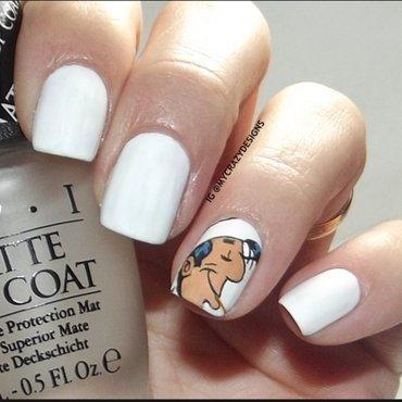 Lucky Luke nails nail art by Mycrazydesigns