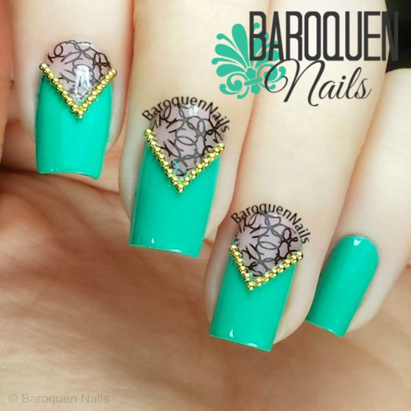 Spirograph nail art by BaroquenNails