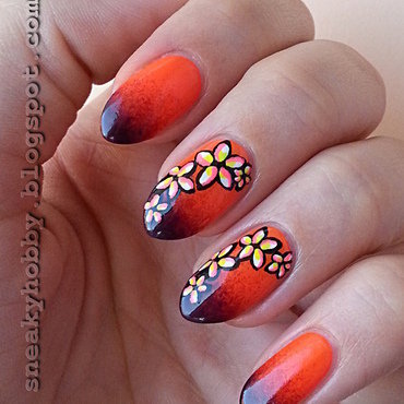 Flower Project - Tropical Flower nail art by Mgielka M