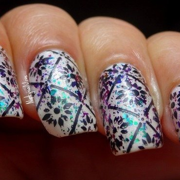 Electric Carnival nail art by Nicky
