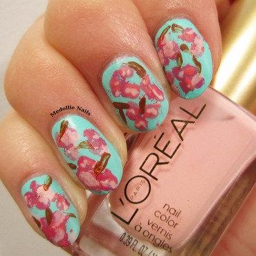 Sakura Nails  nail art by Medollie  Nails