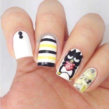 V-day Badtz Maru nail art by Eterna Santos