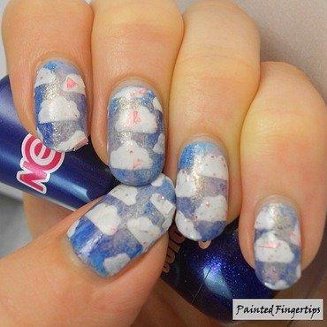 Cloud nail vinyls nail art by Kerry_Fingertips