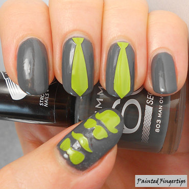 Spies and ties nail art by Kerry_Fingertips