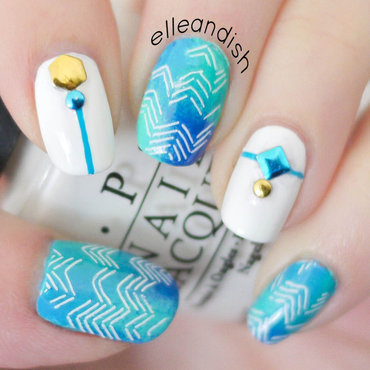 ▲ Studded Tribal Nails ▲ nail art by elleandish