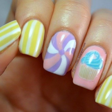 Candy crush! nail art by Furious Filer
