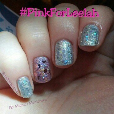 Pink for Leelah nail art by Mama's Manicures (maherwoman)