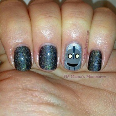 The Iron Giant nail art by Mama's Manicures (maherwoman)