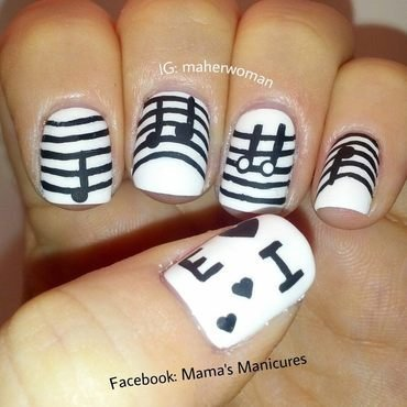 Musical Mani nail art by Mama's Manicures (maherwoman)