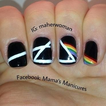 Pink Floyd nail art by Mama's Manicures (maherwoman)