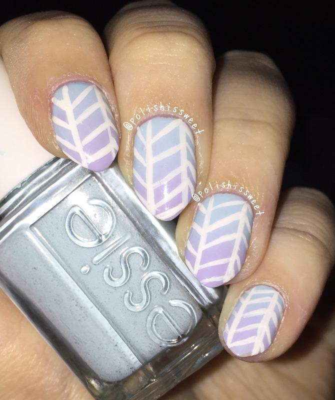 Ombré Herringbone nails! nail art by PolishIsSweet