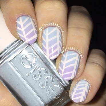 Ombré Herringbone nails! nail art by PolishIsSweet