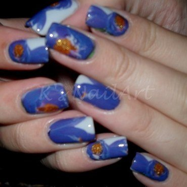 Purple floral nails thumb370f