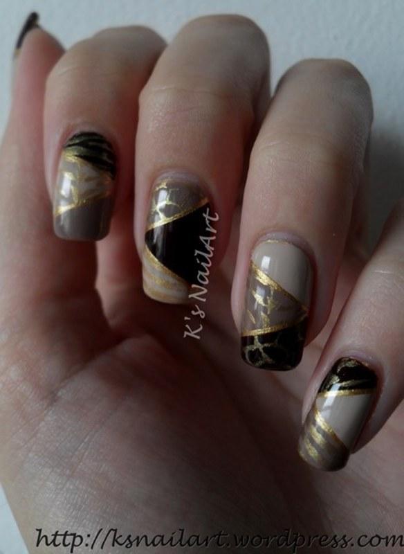 "Geometric Safari Print nail art by Kairi E ""K's NailArt"""
