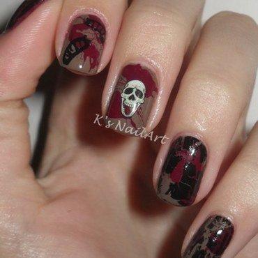 "Splatter Halloween Nails nail art by Kairi E ""K's NailArt"""