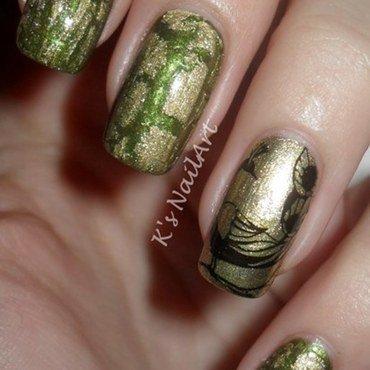 """Peacock Nails nail art by Kairi E """"K's NailArt"""""""