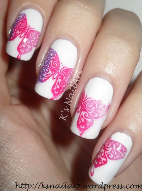 "Colourful Butterflies nail art by Kairi E ""K's NailArt"""