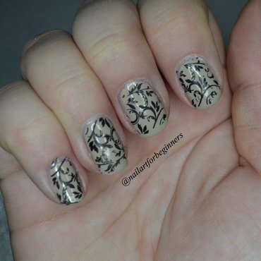 Nail Stamping nail art by Lindsay