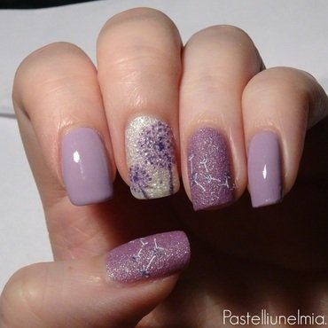 Delicate lilac. nail art by Lumi