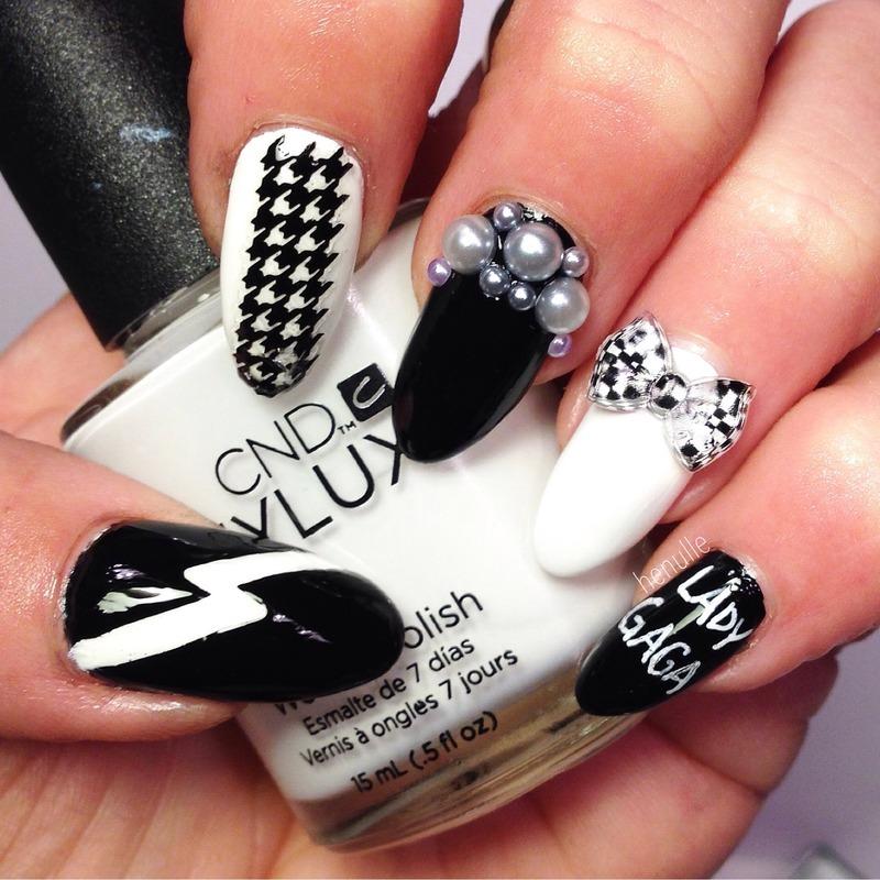 Lady Gaga nails nail art by Henulle