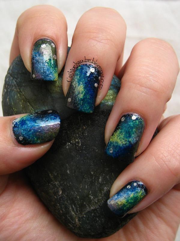 Nebula or Labradorite? nail art by Vedrana Brankovic
